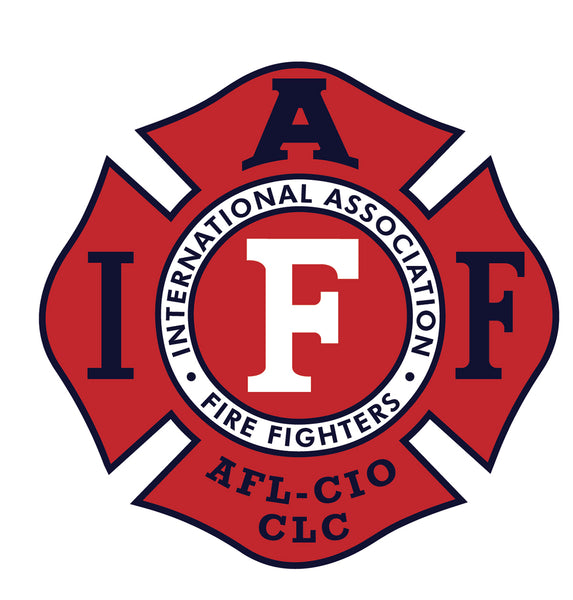"IAFF 4"" DECAL - Red/Black/White"