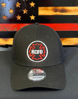KCFD Old Maltese Outline on New Era Stretch Mesh Cap - Black