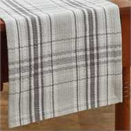 park designs gray and white Collin table runner the shoppes of altavista