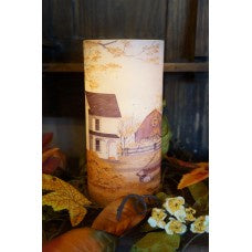 "Remember When LED Pillar Candle  8"" - The Shoppes of Altavista"