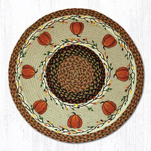 "27"" Harvest Pumpkin Rug - The Shoppes of Altavista"