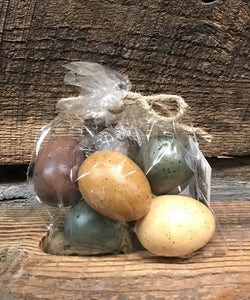Assorted Colored Birds Eggs 6pc - The Shoppes of Altavista