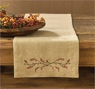 "Burlap & Bittersweet Table Runner 13"" x 36"" - The Shoppes of Altavista"