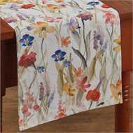 "Enchantment Water Colored Flowers Table Runner 13"" x 36"" - The Shoppes of Altavista"