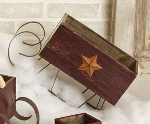 "18"" Distressed Sleigh with Star - The Shoppes of Altavista"