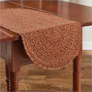 "Allspice Braided Table Runner 13"" x 36"" - The Shoppes of Altavista"