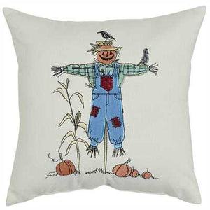 "Scarecrow Applique 10"" Pillow - The Shoppes of Altavista"