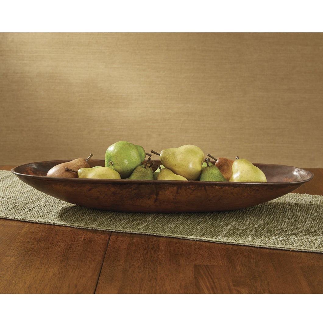 Copper Finish Fulton Oval Shallow Bowl - The Shoppes of Altavista