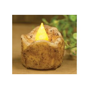 Burnt Ivory Flickering Timer Tea Light Candle - The Shoppes of Altavista