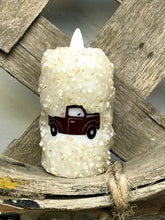 Red Truck Flickering Votive Battery Operated Candle - The Shoppes of Altavista
