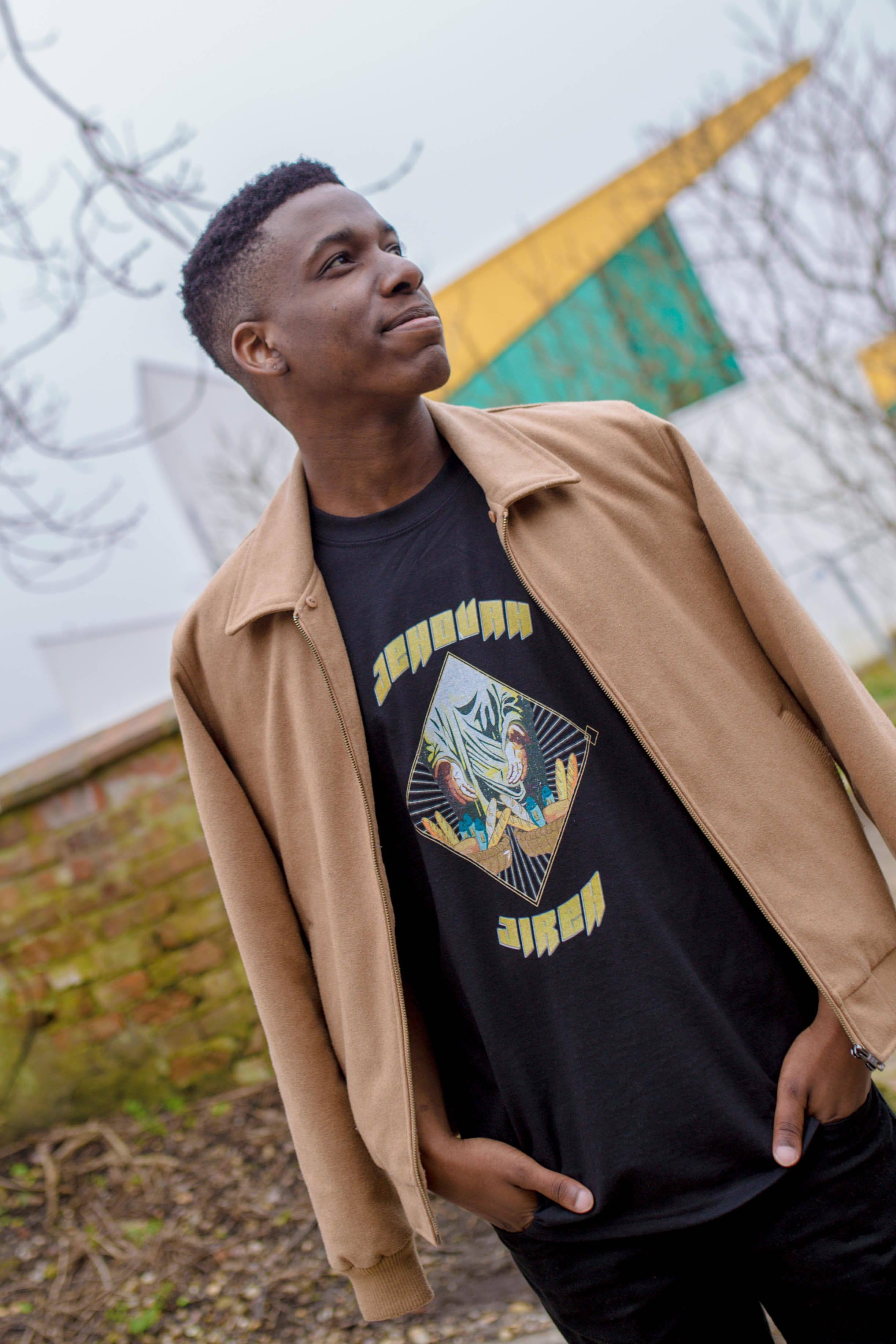 Jehovah Jireh T-shirt, Christian Clothing, Faith based, bible, men's clothing, Trend Savvy, black man, black model, university of lincoln.