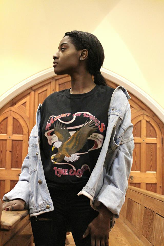 Mount On Wings Like Eagles, Christian Clothing, T-shirt, black model, fashion, clothing, designer, Trend Savvy