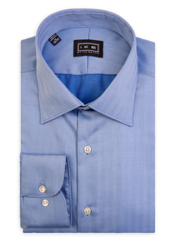 Blue Vertical Chevron Ike by Ike Behar Dress Shirt
