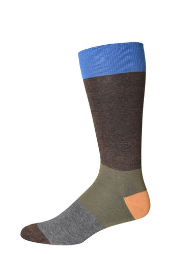 Royal Blue Tricolor Socks