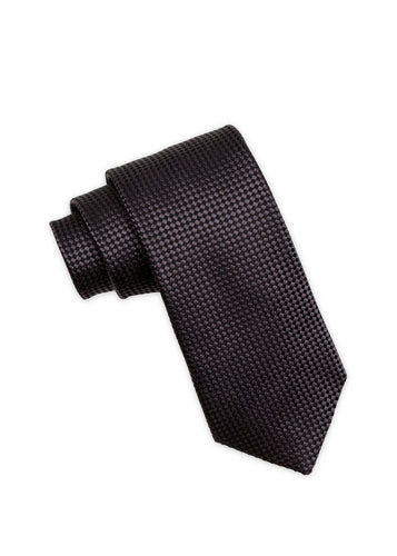 Black Diamond Weave Silk Tie