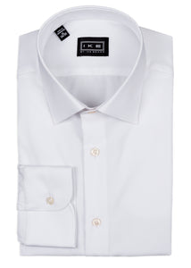 White Twill Ike by Ike Behar Dress Shirt