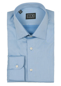 Blue Twill Ike by Ike Behar Dress Shirt