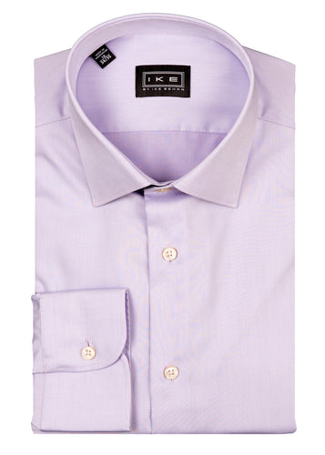 Purple Twill Ike by Ike Behar Dress Shirt