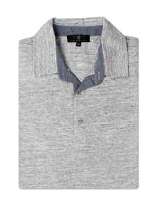 Grey Three-Button Knit