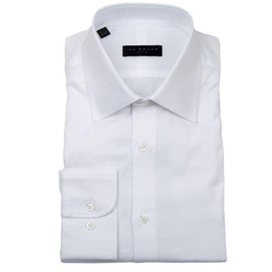 Crosby White Italian Twill Dress Shirt