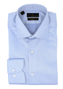 Light Blue Twill Natural Stretch Cotton Dress Shirt