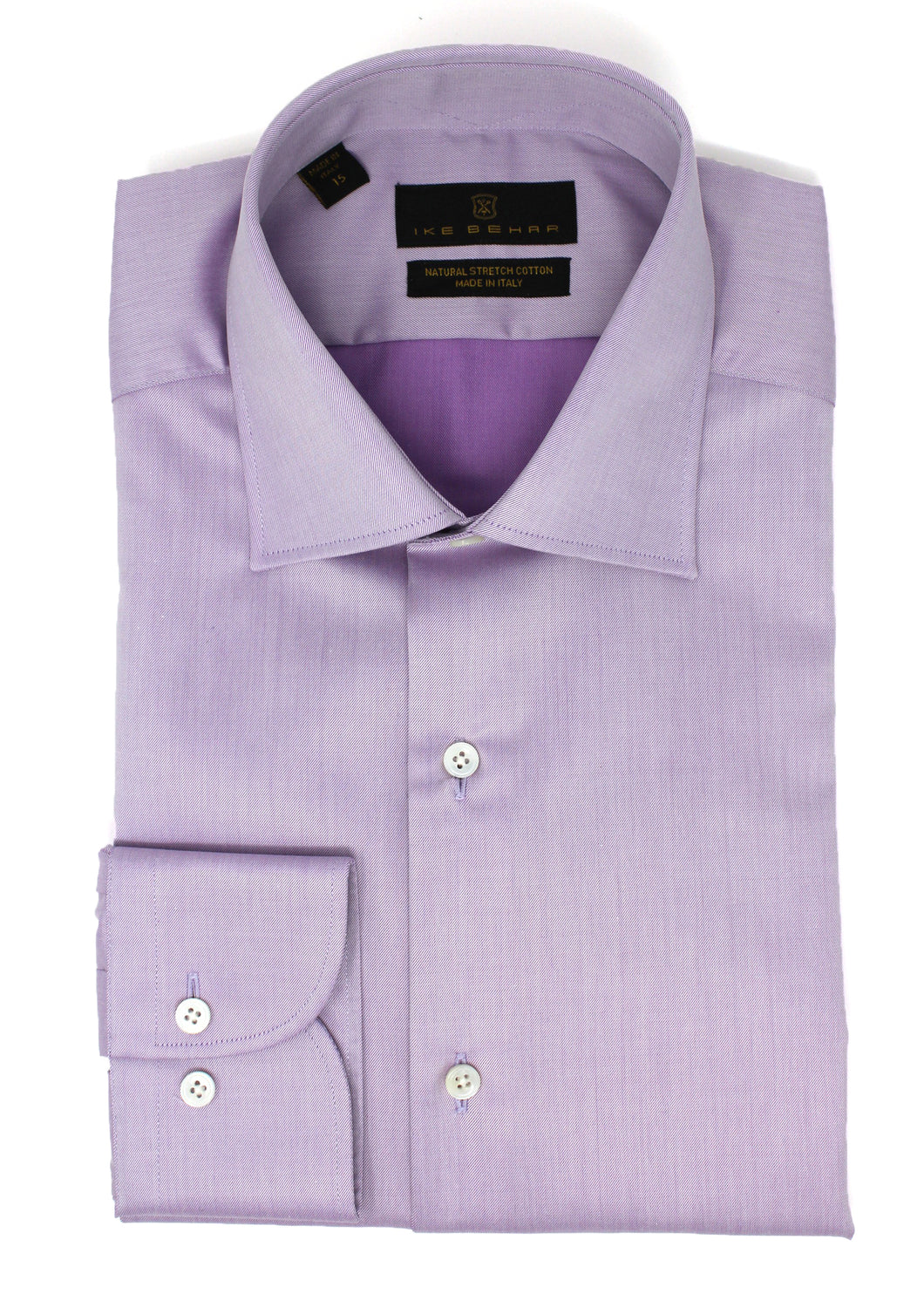 Lavender Twill Natural Stretch Cotton Dress Shirt