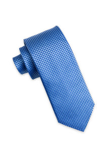 Blue Diamond Weave Silk Tie