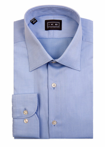 Blue Pique Ike by Ike Behar Dress Shirt