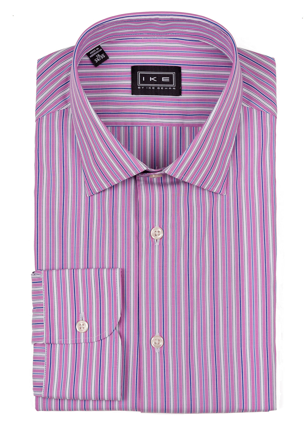 Pink Multi-Stripe Ike by Ike Behar Dress Shirt