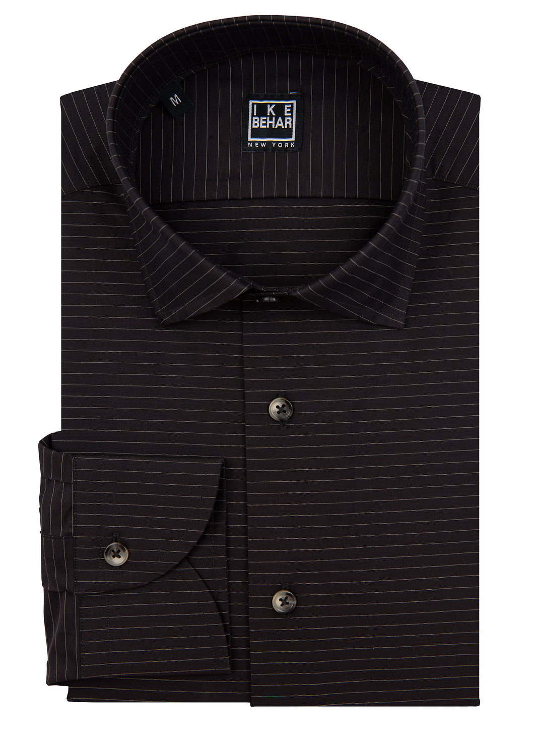 Brown Horizontal Stripe Sport Shirt