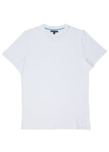 White Pima Cotton Crew T-Shirt