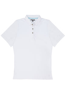 White Pima Cotton Polo