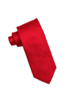 Red Diamond Weave Silk Tie
