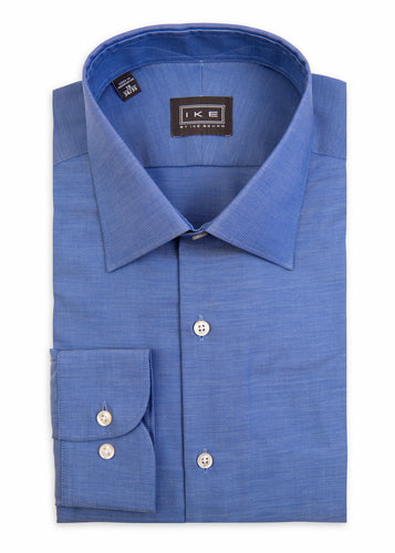 Blue Faille Ike by Ike Behar Dress Shirt