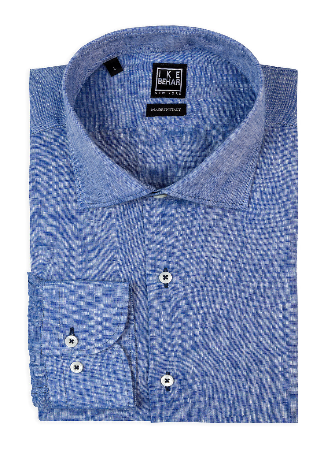 Blue Washed Italian Linen Sport Shirt