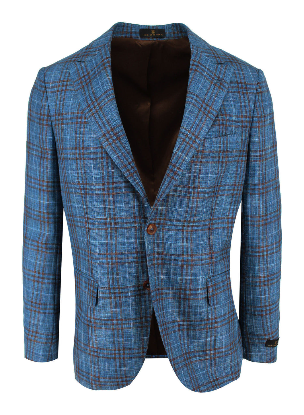 Teal with Chocolate Multi-Check Sport Coat