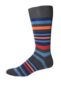 Blue/Orange Multi-Stripe Socks