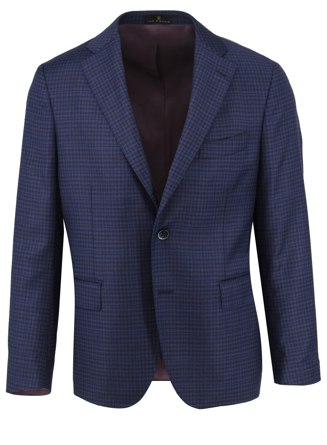 Navy Buffalo Check Sport Coat