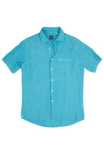 Aqua Short Sleeve Sport Shirt