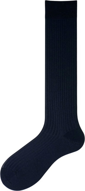 Navy Over the Calf Socks