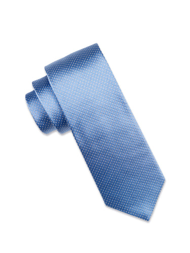 Sky Blue Silk Tie with White Micro-Dot