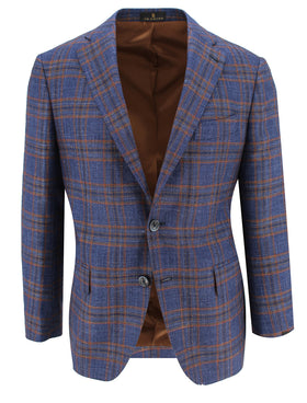Navy with Rust Cashmere Sport Coat