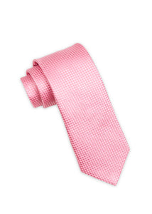 Pink Diamond Weave Silk Tie