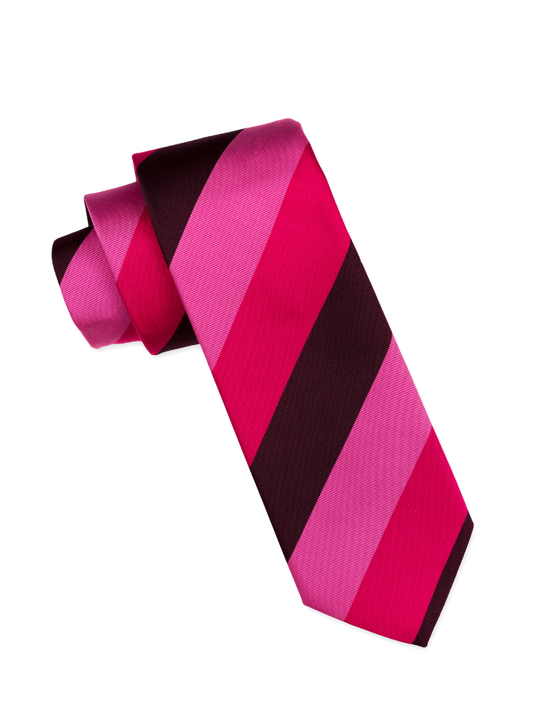 Multi-Magenta Striped Silk Tie