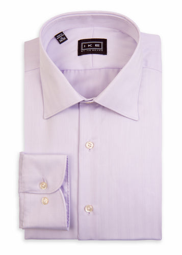 Lilac Vertical Chevron Ike by Ike Behar Dress Shirt
