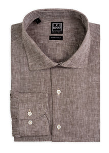 Taupe Italian Washed Linen Sport Shirt