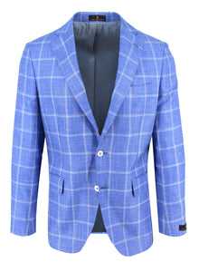 Sky with White Windowpane Sport Coat