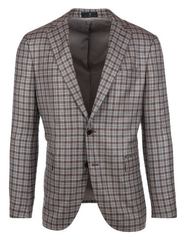 Brown Blue Check Sport Coat