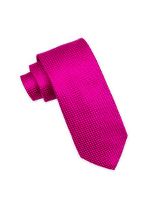Magenta Diamond Weave Silk Tie