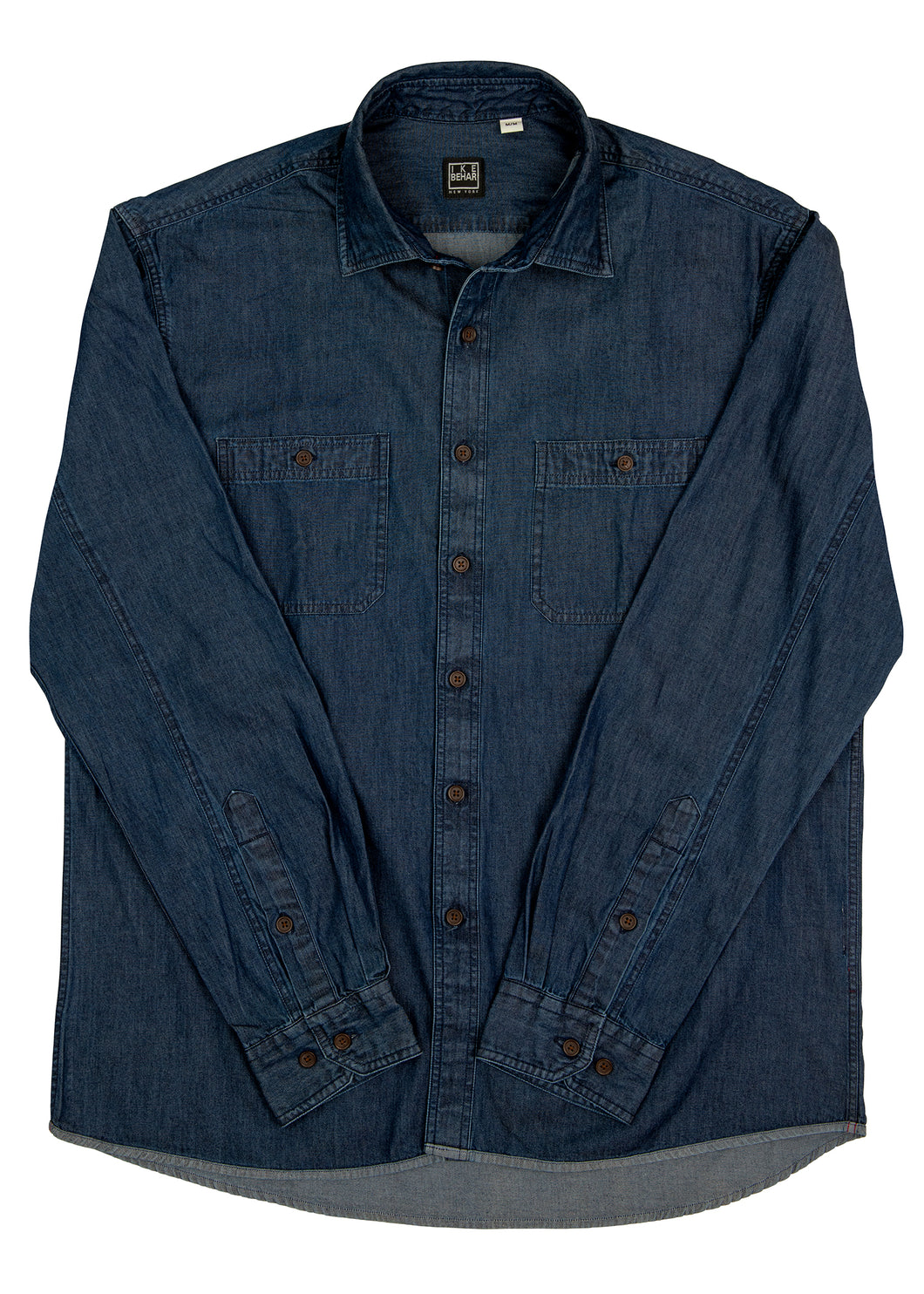 Washed Indigo Denim Sport Shirt